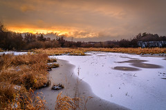Sunset (tods_photo) Tags: ifttt 500px yellow sky lake sunset water sun clouds snow ice norway november mjøsa toten