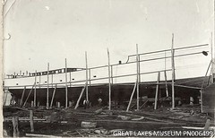 Steamer 'Glenreagh' (1919 - 1934) nearing completion - Tuncurry 1919 (Great Lakes Manning River Shipping NSW) Tags: ernestwright glenreagh glmrsnsw coastaltrader midnorthcoast australia tuncurry wrightshipst greatlakesnsw nswgreatlakes capehawkeharbour woodenship ernestwrightshipyards coastalsteamer allentaylorco northcoaststeamnavigationcoltd nsw ssglenreagh glenreaghewbst ernestwrightsyt