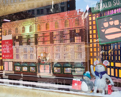 "2017 Holiday Window Display ""The Perfect Gift Brings People Together"" at Macy's Herald Square, New York City (jag9889) Tags: 2017 2017holidaywindowdisplay 20171127 34thstreet animal arcticcircle bag bear christmas departmentstore detail display gift heraldsquare holiday miniature macy macys manhattan maritimebear midtown mouse ny nyc newyork newyorkcity outdoor polarbear reflection retail store storewindow usa unitedstates unitedstatesofamerica ursus window jag9889"