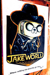 Lost Hills - Jakeworld (Rockman of Zymurgy) Tags: upfest 2017 street art bedminster bristol graffiti illustration artist stencil spray paint sticker paste