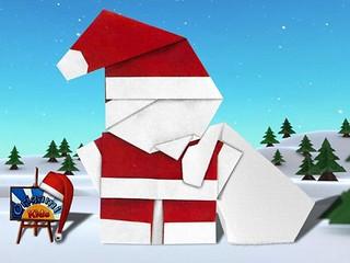 Santa Claus with Bag by Mazao Mizuno