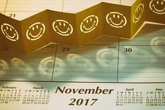 Don't Just Smile On Saturday (amarilloladi) Tags: analog crafts smiles selfmadesmiley smileonsaturday calendar smileyfaces