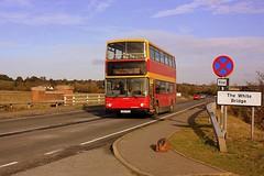 Just in Essex (Chris Baines) Tags: ipswich buses dennis trident alexander alx 400 lg02 fla white bridge suffolk essex border 92 service manningtree