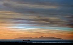 500px Photo ID: 216374955 (www.dooks.org) Tags: sunset water noperson dawn sky sea evening dusk lake sun landscape nature outdoors beach ocean travel arran clydeislands scottishisland soundofarran shipping tanker gulfstream westofscotland ayr ayrshire clouds cyan orange mist