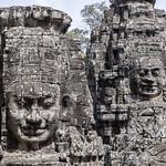 Caras sonrientes en el Templo de Bayón, Angkor Thom, Camboya thumbnail