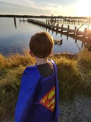 Superhero at the pier (quinn.anya) Tags: sam preschooler superhero pier sunset edgartown marthasvineyard