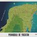 Peninsula de Yucatan Mexico Map