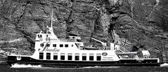 M/V SHOWTIME (13HICKMAN77) Tags: ship fjord norway sognefjord nærøyfjord aurland gudvangen cliff flåm fjordcruise norge sailor salt water vestlandet west coast europe black white blackwhite bw