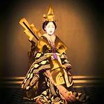 Digital Oil Painting of a Japanese Kabuki Dancer in White Makeup thumbnail