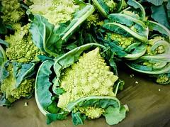 Graceful in green (kimbar/Thanks for 3 million views!) Tags: vegetables green market oakland romanesco broccoli cauliflower farmersmarket california