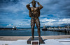 2017 - Mexico - Manzanillo - Waterfront Bronze (Ted's photos - For Me & You) Tags: 2017 cropped mexico nikon nikond750 nikonfx tedmcgrath tedsphotos tedsphotosmexico vignetting crom crombronzemanzanillo bronze bronzesculpture bronzestatue portofmanzanillomanzanillo waterfronttug boat ship port