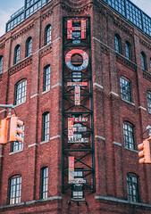 Hotel (rouslane) Tags: 2017 street winter brooklyn manhattan red
