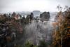 Moody Day (Fabian Fortmann) Tags: bastei sächsischeschweiz sachsen elbsandsteingebirge bridge mountain moody fog autumn herbst germany deutschland
