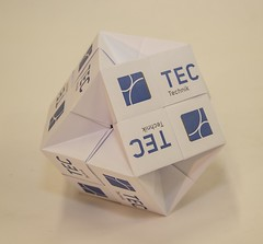 Truncated cube (ISO_rigami) Tags: modular origami polyhedron a4 3d sonobe cube