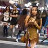 Indian Girl (San Diego Shooter) Tags: sandiego halloween halloweencostumes portrait bokeh streetphotography sexyhalloweencostumes