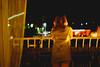 Girl on the balcony (BalintL) Tags: night girl balycony city summer jupiter 9 85mm f2 wide open
