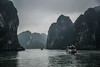 Halong Bay (tehroester) Tags: vietnam halong bay boat sea travel mood moody dark atmosphere fog overcast clouds mountains nature landscape rain cliffs nikon d3300 world trip adventure water