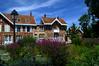 Park in Coulommiers, France (Vak Photos) Tags: park flowers colorful sky france coulommiers houses parc des capucins
