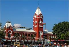 Chennai Central Railway station. (Gautham Karthik) Tags: chennai india chennaicentral railwaystation indianrailways photography tamilnadu architecture british