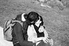 French kiss n. 3 (Franco & Lia) Tags: street photographiederue fotografiadistrada paris parigi france francia montmartre frenchkiss bacio baiser noiretblanc blackandwhite biancoenero