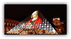 Série Pyramide du Louvre : N° 10 (Jean-Louis DUMAS) Tags: paris pyramide louvre architecture architect architecte lines batiment building hdr black white monochrome apple iphone explore géométrique bâtiment ciel fenêtre de toit horloge symétrie plus musée museum night shot personnes
