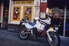 1990 mbikes amsterdam 01 (francois f swanepoel) Tags: amsterdam aprilia hardporno mbikes motorbikes pizzeria sexandpizza slidefilm slidescans tuareg