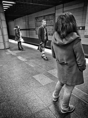 One day in Munich (Timo Kozlowski) Tags: bavaria bayern münchen munich street streetogs huaweip9 monochrome snapseed mvg publictransportation subway ubahn