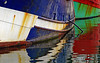 Fishing Boats (Ciceruacchio) Tags: boat bateau barca port porto relection reflexion reflet riflessione colors couleurs colori red rouge rosso green vert verde bleu blue blu water aqua eau capbreton landes france francia frankreich