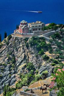 Ιερά καλύβη Αγίου Γεωργίου(Καρτσωναΐικα) Άγιον Όρος Saint Mount Athos