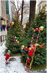 It's Christmas in the City (Sun~Lover) Tags: michiganave magmile chicago illinois christmas trees elves ornaments lights
