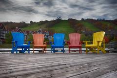 Balmy November: Blue Mountain Village (KWPashuk) Tags: nikon d7200 tamron18400mm lightroom nikcollection kwpashuk kevinpashuk bluemountain skihill muskokachair muskoka chair dock outdoors