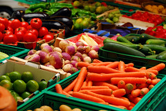 Vegetables (Farm to Institution New England) Tags: vegetable vegetables market fresh produce stand various assorted variety farm farmer farmers box boxes carrots carrot tomato tomatoes zucchini zucchinis turnip turnips sale sell selling eggplant eggplants vendor harvest food nutrition canada