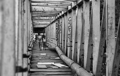 Peixinhos / Chão de Estrelas (rodrigogarciabkt) Tags: preto e branco black white pb bw slum favela brasil recife olinda ponte bridge woman mulher periferia menina perspectiva perspective peixinhos pe pernambuco