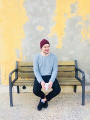 Port de Soller, Hiszpania, 2017. (Joanna Durkalec) Tags: resting sangria bench spain mallorca portdesoller