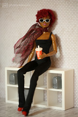 bobby jean in black catsuit (photos4dreams) Tags: toy plastic spielzeug plastik photos4dreams p4d photos4dreamz photo omg © dress barbie mattel doll barbies girl play fashion fashionistas outfit kleider mode puppenstube tabletopphotography aa regularlifeinthedollhouse puppe bobbyjean afroamerican darkskin beautiful africanamerican