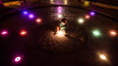 Princess of Lights (Mohammed Qamheya) Tags: princessoflights thepearl doha qatar nikon d500 night lights red purple blue green yellow tokina tokina1116 wideangel fun kid child maryam tokinaatx116prodxii