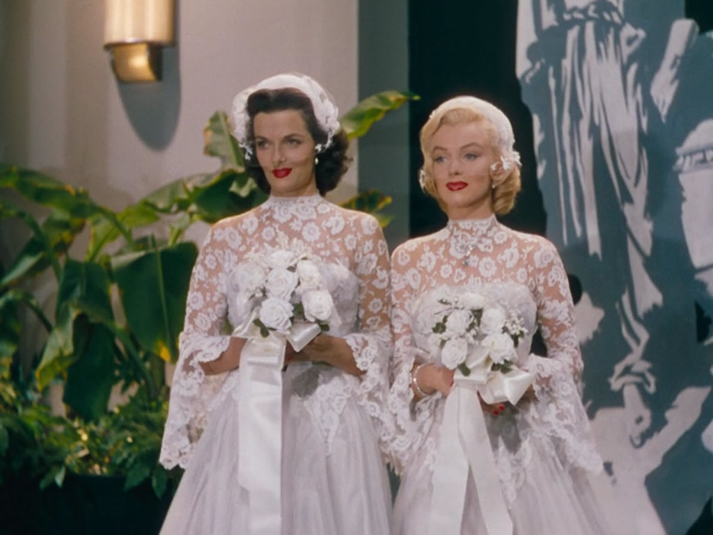 Jane Russell Marilyn Monroe Quotgentlemen Prefer Blondesquot 1953: Gentlemen Prefer Blondes Wedding Dress At Websimilar.org