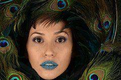Candy Lips (PVA_1964) Tags: nikon d850 afs105mmƒ14 westcott apollo orb apolloorb sb5000 multipleflash wirelessflash offcameraflash studio studiostrobe female model modelmayhem rella candy candylips blue