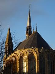 Church caressed by the winter sun (Wider World) Tags: scotland glasgow westend church sandstone neogothic fleche spire arch roof saintechapelle