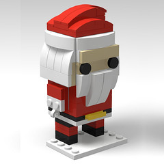 Lego BrickHeadz Santa (Lego Minifigures Frame) Tags: lego legominifigures legoframe brickheadz christmas santa gift custom legomoc legobrickheadz
