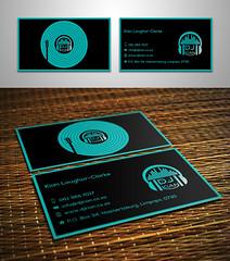 Business Card Design (yousfi.design) Tags: black green dj business card inspiration simple