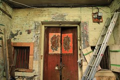 Doors (superzookeeper) Tags: canoneos5dmarkiv ef2470mmf28liiusm 5dmk4 5dmkiv hk hongkong yuenlong eos digital street abandoned ruins oldtown yuenlongkauhui oldbuilding door olddoor