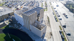 Oak Lawn Hugh School OLHS - Performing Arts Center Construction (Rick Drew - 18 million views!) Tags: oak lawn hugh school olhs performing arts center construction steel ibeam prefab concrete il illinois schools education drone dji aerial spartans teaching traffic road cars commute travel shadow