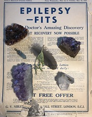 Epilepsy Fits (couchmaster73) Tags: circa1937 advertisement antique old amethyst gemstones composition crystals feather cedar