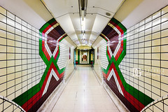 Thinking Patterns - Piccadilly Circus Underground Station, London, UK (davidgutierrez.co.uk) Tags: london photography davidgutierrezphotography city art architecture nikond810 nikon urban travel color interior people londonphotographer photographer uk piccadillycircusundergroundstation piccadillycircustubestation piccadillycircus undergroundstation tube underground londonunderground colours colour red green tubestation station platform cityofwestminster tfl colors colourful street public buildings lights centrallondon transport england unitedkingdom 伦敦 londyn ロンドン 런던 лондон londres londra europe beautiful cityscape davidgutierrez capital structure britain greatbritain light streets d810 sign londonundergroundsigns bricks person arts vivid vibrant ultrawideangle afsnikkor1424mmf28ged 1424mm