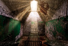 Salvation lies within (Jim Nix / Nomadic Pursuits) Tags: jimnix nomadicpursuits photography travel luminar2018 macphun cell prison abandoned jail easternstatepenitentiary pennsylvania philadelphia philly grunge god