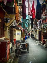 LR Shanghai 2016-808 (hunbille) Tags: birgitteshanghai3lr china shanghai lilong shikumen longtang housing oldcity old city nanshi alley laundry