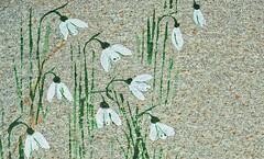 Snowdrops-Stone (G_E_R_D) Tags: macromondays stonerhymingzone snowdrops schneeglöckchen stein stone paperweight briefbeschwerer
