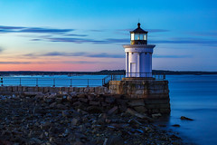 Bug Light Blue (Bob90901) Tags: buglight blue bluehour buglightpark southportland maine civiltwilight lighthouse longexposure sunset rpg90901 seascape seashore portlandbreakwaterlight coast portlandharbor summer water sky clouds dusk canon 6d canonef70200mmf28lisiiusm canon70200f28lll filter neutraldensity lee littlestopper nd6 nd waterfront shore ocean 2016 october 1904