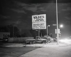 Welcome to Detroit (IV2K) Tags: detroit michiga michigan nothingstopsdetroit motorcityshooters motorcity night mamiya mamiya7ii mamiya7 mediumformat blackandwhite bw ilford ilforddelta ilforddelta100 street urban urbanexploration abandoned